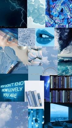 Blue Collage In 2020 | Iphone Wallpaper Tumblr Aesthetic