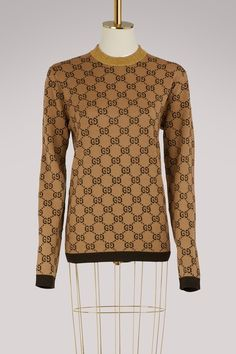 3ccfaa8455b Buy Gucci GG jacquard wool sweater online on 24 Sèvres. Shop the latest  trends - Express delivery   free returns
