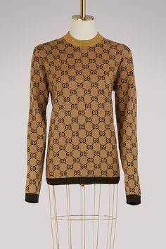 6391c75261898 Gucci GG jacquard wool sweater Wool Sweaters
