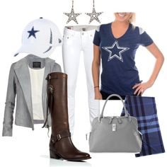 Women's Cowboys Style with New Nike V-Neck
