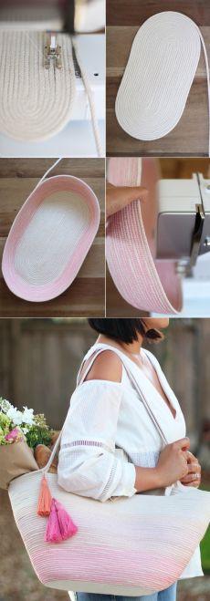 Женская сумка из веревки
