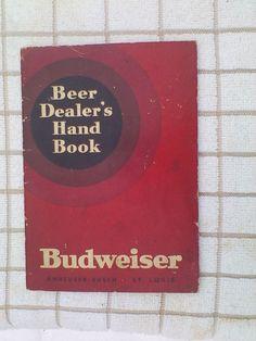 Vtg 1934 Anheuser Busch Budweiser Beer Dealers Hand Book Booklet