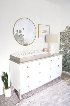 Neutral baby girl nursery