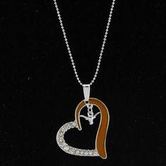 Texas Longhorns Women's Heart Necklace - Burnt Orange