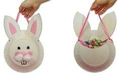 Paper Plate Bunny Basket
