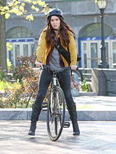 Megan Fox Photos: Megan Fox Rides Her Bike on the Set of 'TMNT'