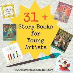 31 plus books for budding young artists. Stories include biographical sketches of famous artists, fictional comedies, and insight into museums, art appreciation and artistic methods.