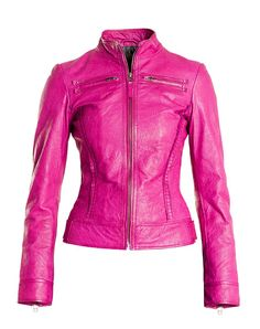 Logan Riese Leather jacket with skull women's biker jacket