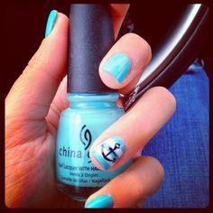 Sailor striped nails. China Glaze polish. I LOOOVEEE THIS!