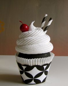 Why anyone would want a fake cupcake, I do not know. But this one sure is pretty. $10.95 on Etsy.