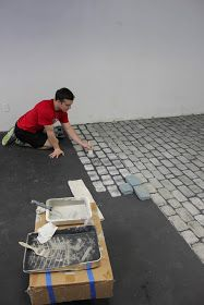 Basement Flooring Options, Brick Flooring, Laminate Flooring, Flooring Tiles, Patio Flooring, Concrete Bricks, Concrete Floors, Painting Basement Floors, Faux Brick