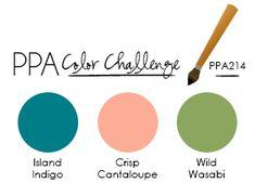PPA214 Island Indigo Crisp Cantaloupe Wild Wasabi