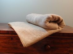 Vintage Pure Wool Blanket Brown Camp Blanket by by NewfoundFinds, $95.00