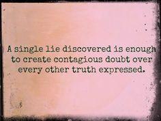 A single lie....