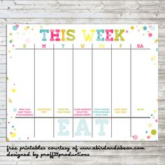 Weekly Calendar For Work Rest Play Free Printable Household