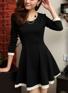 three color sweet Warehouse Lace Top Dress