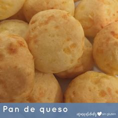 Pan de Queso Finger Food Appetizers, Finger Foods, Gluten Free Recipes, Low Carb Recipes, Pan Bread, Cheese Bread, Brunch, Food And Drink, Treats