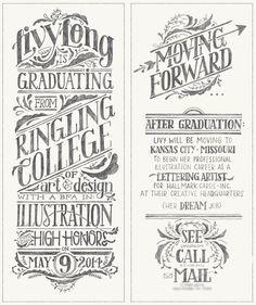 Graduation Announcement by Livy Long (scheduled via http://www.tailwindapp.com?utm_source=pinterest&utm_medium=twpin&utm_content=post32658568&utm_campaign=scheduler_attribution)