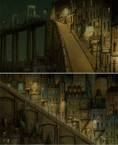 As Bicicletas de Belleville, por Alexei Nechytaylo | THECAB - The Concept Art Blog