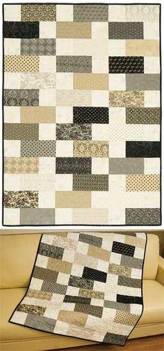 SAHARA QUILT KIT - zipper quilt - see Missouri Star Quilt Co for tutorial