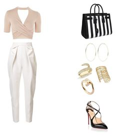 """""""Untitled #139"""" by gcardentey on Polyvore featuring Topshop, Delpozo, Christian Louboutin, Yves Saint Laurent, Kenneth Jay Lane, Anne Sisteron and Cartier"""