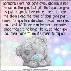 Someone I love has gone away...