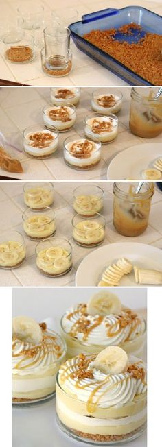 Have a Banana Recipes Banana Caramel Cream Dessert 13 Desserts, Dessert Recipes, Easter Desserts, Picnic Recipes, Baking Desserts, Cake Baking, Health Desserts, Yummy Treats, Sweet Treats