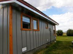 ideas for farmhouse exterior remodel metal buildings Mobile Home Siding, Mobile Home Exteriors, House Exteriors, Metal Building Homes, Metal Homes, Building A House, Building Ideas, Exterior House Siding, Barn Siding
