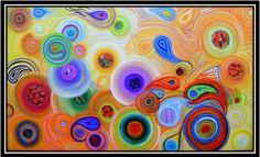 Quadro abstrato. Moderno e colorido.