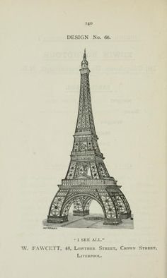 Entries to a competition to design a new tower in London (1890) | The Public Domain Review