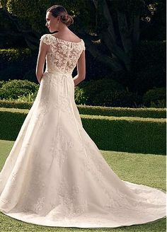 Glamorous Tulle Bateau Neckline A-line Wedding Dress With Beaded Lace Appliques Style No. WWD79857 http://www.dressilyme.com/p-glamorous-tulle-bateau-neckline-a-line-wedding-dress-with-beaded-lace-appliques-53752.html