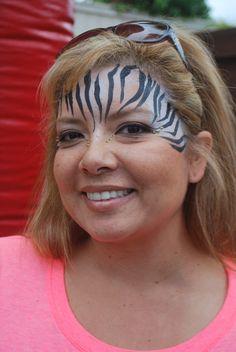 zebra mask face painting
