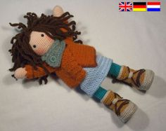 Ganchillo patrones para muñeca SUE Deutsch Inglés por CAROcreated