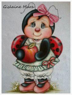 Pintura em tecido por Gislaine Mara