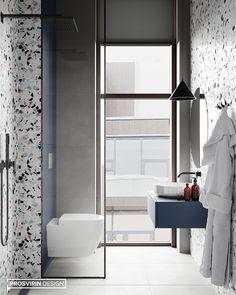 Ideas For Exterior Design House Bathroom Modern Bathroom Design, Bathroom Interior Design, Office Interior Design, Exterior Design, Design Furniture, Apartment Interior, Bathroom Inspiration, Small Bathroom, Living Room Designs