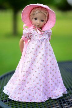 "SOLD ""Garden Tea Party"" Regency Dress, Clothes for 13"" Dianna Effner Little Darling #LuminariaDesings"