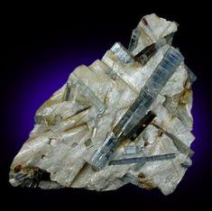 Kyanite and Staurolite from Pizzo Forno, near Faido, Ticino, Italy Blue Crystals, Rocks, Gems, Italy, Stone, Brown, Switzerland, Italia, Rock
