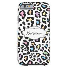Colorful Animal Print Custom iPhone 6 Case #iphonecase #animalprint #customcase