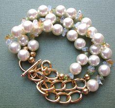 PEARL BRACELET. $12.00.  So gorgeous!    http://www.etsy.com/listing/125037683/pearl-bracelet?#