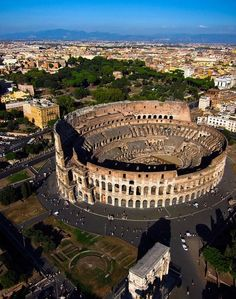 """Known as the """" Flavian Amphitheater"""" it came to be called the Colosseo because it stood on the site of the colossus of Nero, a 115 ft. tall gilded bronze statue of the emperor that once towered there.  www.fodors.com"""