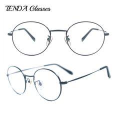 f9e6012ff8 Men Ultra Light Pure Titanium Eyeglass Frames Vintage Eyewear Round Retro  Spectacles For Prescription Lenses