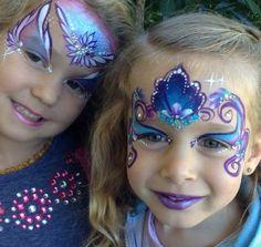 Fairy princess face paint