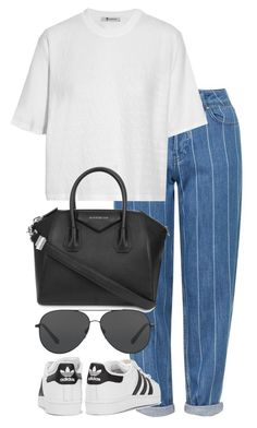 """Untitled #2833"" by elenaday ❤ liked on Polyvore featuring Topshop, adidas Originals, T By Alexander Wang, Givenchy and Michael Kors"