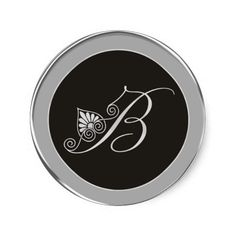 An elegant silver #monogram sticker for your special occasions.The monogram designed with a swirls and floral pattern looks stylish as #weddingstickers