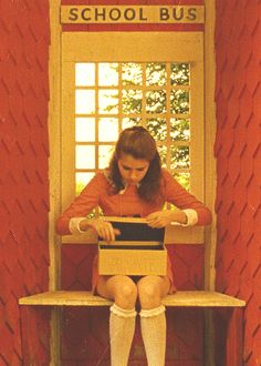 Kara Hayward  in Wes Anderson's Moonrise Kingdom. The composition of almost every frame in Wes's films is well-designed.