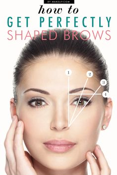 how to get perfectly shaped eyebrows // #makeup #DIY