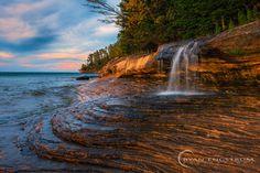 Painted Rocks National Lakeshore  Upper Peninsula Michigan