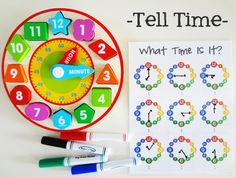 teach your child to tell time