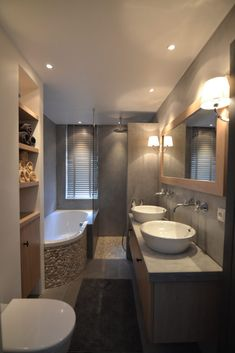 Natural materials for the rural bathroom - RON Stappenbelt . - Natural materials for the rural bathroom – RON Stappenbelt … – Bathroom Design Luxury, Bathroom Layout, Modern Bathroom Design, Small Bathroom, Bathroom Ideas, Bathroom Cabinets, Master Bathroom, Bad Inspiration, Bathroom Inspiration