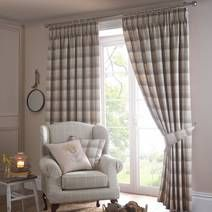 Ochre Balmoral Lined Pencil Pleat Curtains